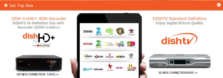 dishtv sd and hd connection